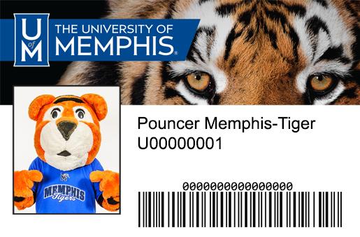 Pouncer Memphis-Tiger Campus Card